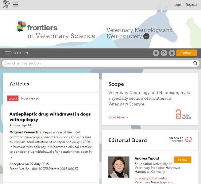 Journal Veterinary Neurology and Neurosurgery