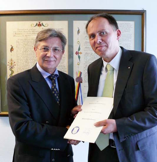 Dr. Gerhard Greif und Professor Dr. Eberhard Haunhorst