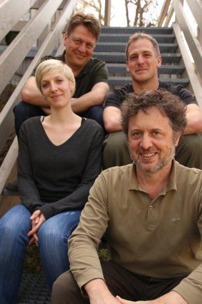 Von oben links, nach unten rechts: Wolfgang Vogl, Ivan Maggini, Anne Hloch und Leonida Fusani, Leiter der Österreichischen Vogelwarte