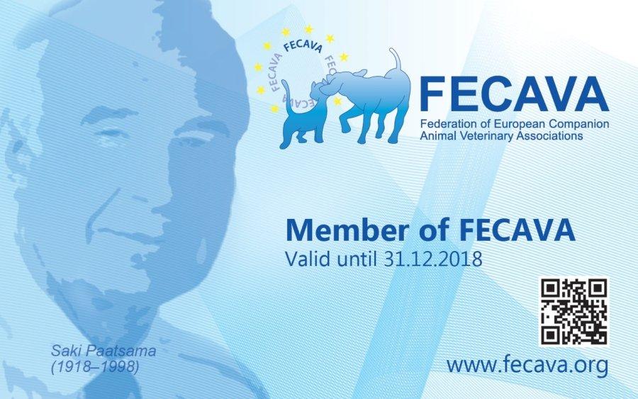 FECAVA honours Saki Paatsama on new membership card