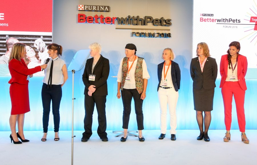 Die fünf Finalisten erhielten die Chance, ihre Projekte live während des Purina BetterwithPets Forums 2018 zu präsentieren