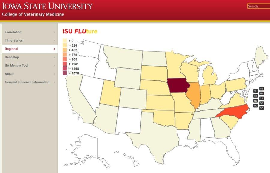 Website tracks swine flu across the US in near-real time
