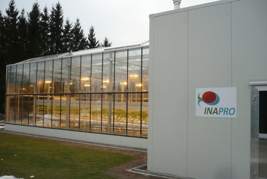 Aquaponikanlage INAPRO zur kombinierten Fisch- und Gemüsezucht.