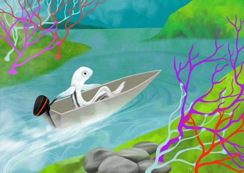 Zieht ein Bild der Umwelt an den Augen vorbei, halten Zebrafische mit Schwimmbewegungen ihre Position. Neurobiologinnen zeigen, über welche Nervenzellbahnen dieses Verhalten koordiniert wird.